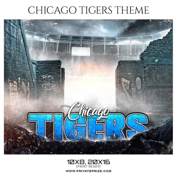 Chicago Tigers - Football Themed Sports Photography Template