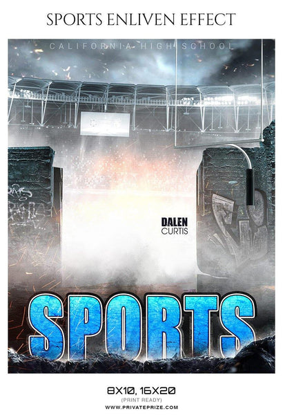 Dalen Curtis - Football Sports Enliven Effects Photography Template