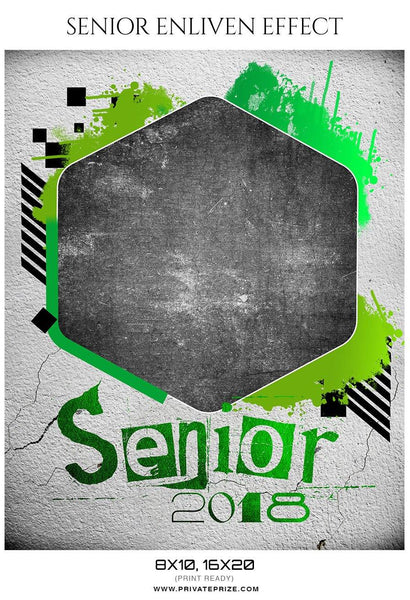Senior Enliven Effect Photography Template - Photography Photoshop Template