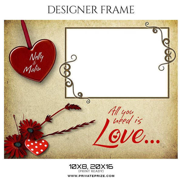 Nelly and Malin - Valentine's Designer Frame Templates - Photography Photoshop Template