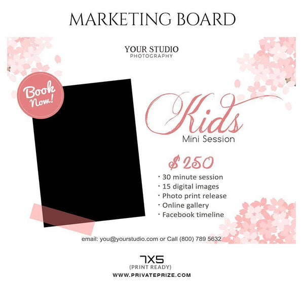 Kids - Mini Session Flyer Template for Photographers