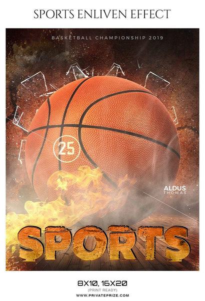 Aldus Thomas - Basketball Sports Enliven Effect Photography Template