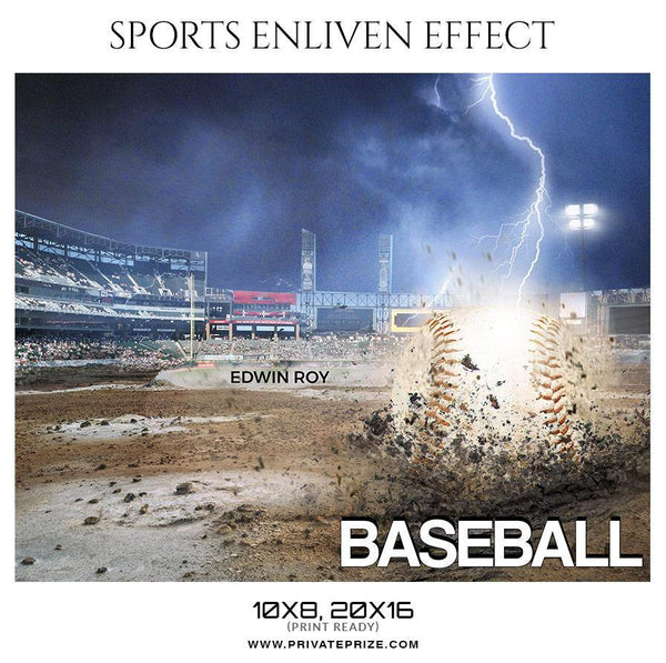 Edwin Roy - Baseball Sports Enliven Effect Photography Template