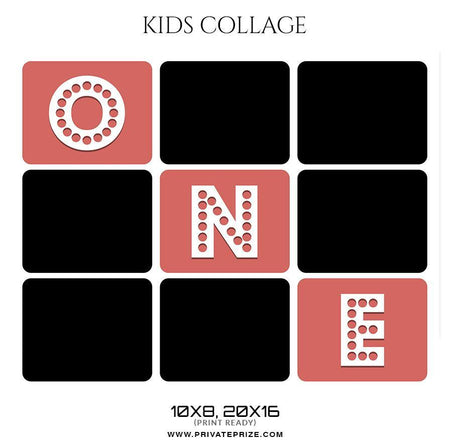 One - Kids Collage - Photography Photoshop Template