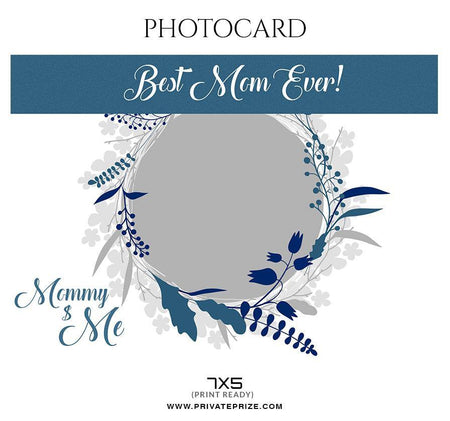 Mommy $ Me - Photo card - Photography Photoshop Template