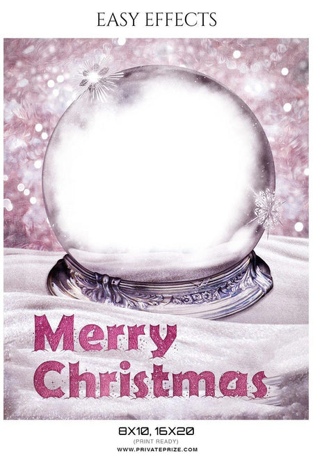 Merry Christmas - Easy Effects - Photography Photoshop Template