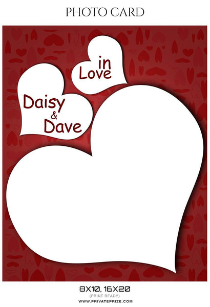 Daisy and Dave - Photo card - Photography Photoshop Template