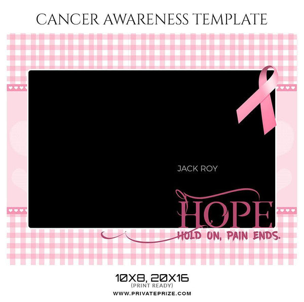 Jack Roy - Cancer Awareness Sports Template - Photography Photoshop Template