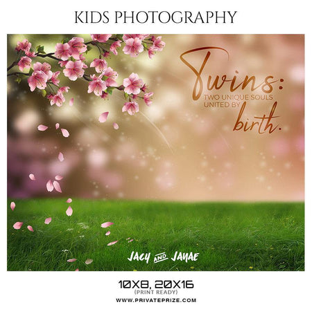 Jacy & Janae - Kids Photography Photoshop Templates - Photography Photoshop Template