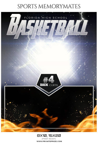 Dack Curtis - Basketball Sports Memory Mates Photography Template - Photography Photoshop Template