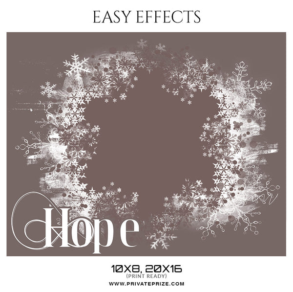 Hope - Christmas Easy Effects - Photography Photoshop Template