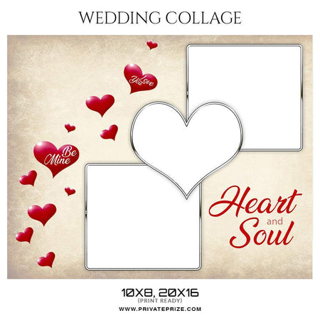 Heart and Soul - Valentine's Wedding Collage Templates - Photography Photoshop Template