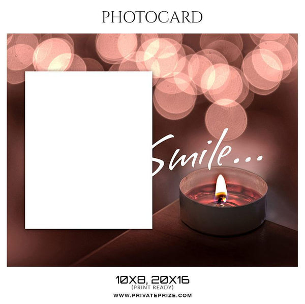 Smile - New Born Photo Card - Photography Photoshop Template