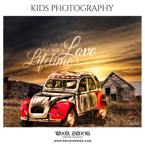 DAVID - KIDS PHOTOGRAPHY - Photography Photoshop Template