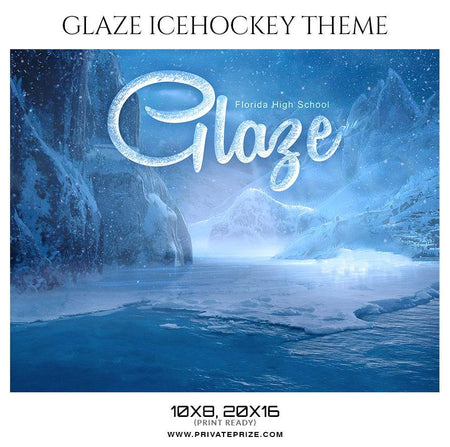 Glaze - Ice Hockey Themed Sports Photography Template