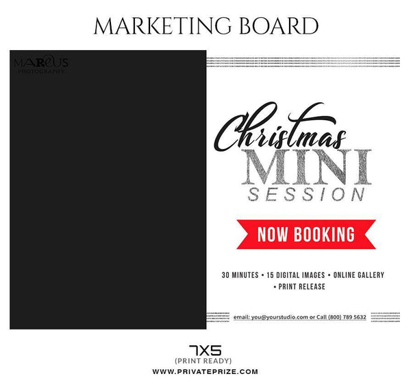 Christmas marketing Banner - Mini Session Flyer Template for Photographers