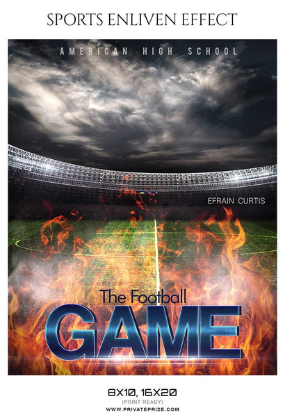 Efrain Curtis - Football Sports Enliven Effects Photography Template