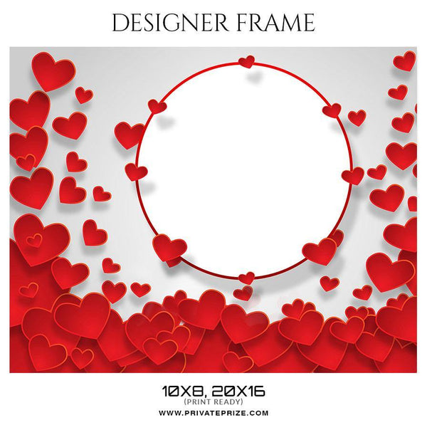 Couples Valentine's  - Designer Frame Templates - Photography Photoshop Template