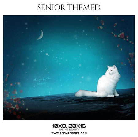 Elizabeth - Senior Themed Photoshop Template - Photography Photoshop Template