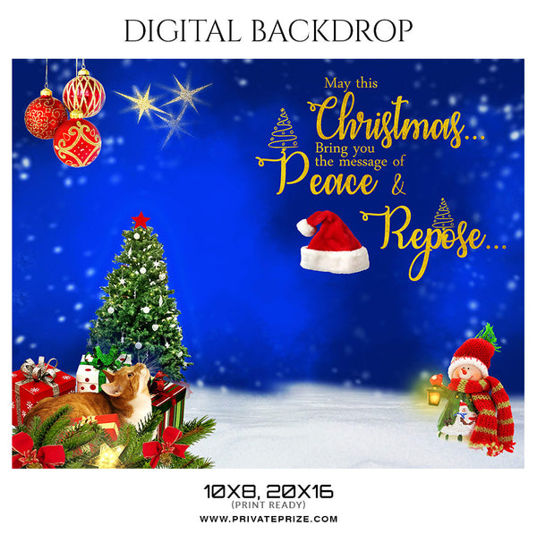 Christmas - Digital Backdrop Photographer Template - Photography Photoshop Template