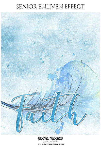 Faith - Senior Enliven Effect Photography Template - Photography Photoshop Template