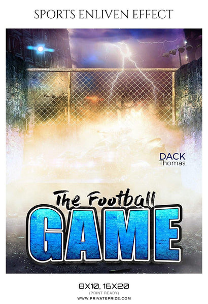 Dack Thomas - Football Sports Enliven Effects Photography Template