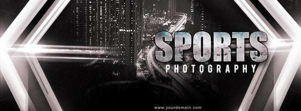 Sports Photography - Facebook Timeline Cover Banner - Photography Photoshop Template