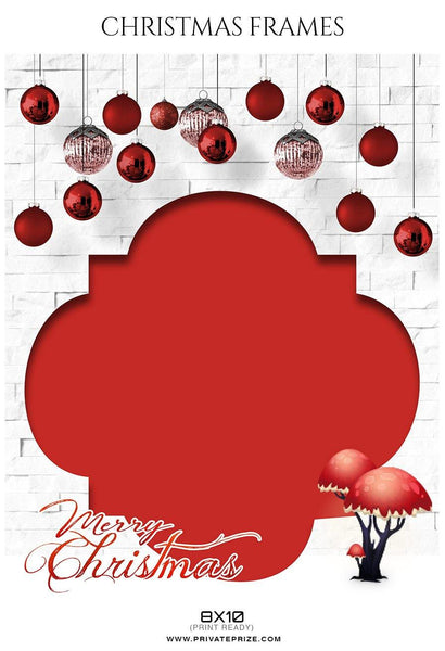 Christmas Frame - Digital Backdrop - Photography Photoshop Template