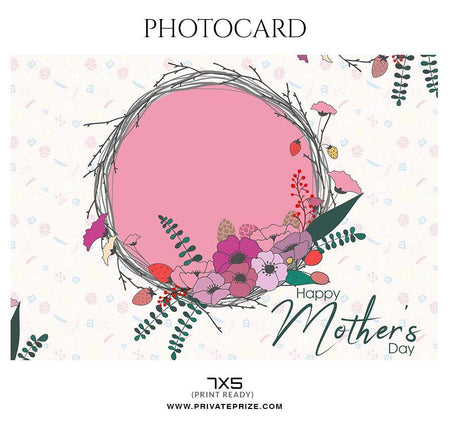 Mother's day - Photo card - Photography Photoshop Template