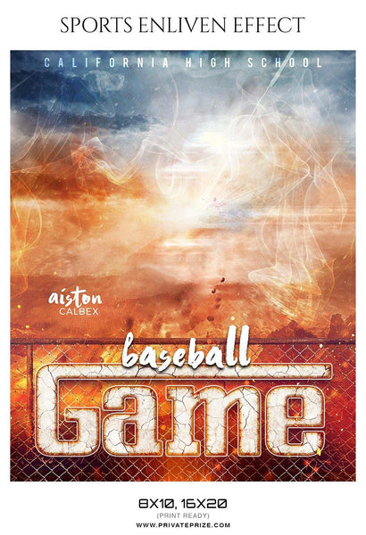 Aiston Calbex - Baseball Sports Enliven Effect Photography Template