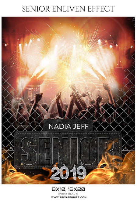 Nadia Jeff - Senior Enliven Effect Photography Template - Photography Photoshop Template