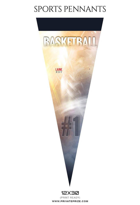 Laine Roy - Basketball Pennants Photography Templates - Photography Photoshop Template