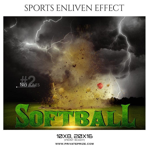 Nia Jones - Softball Sports Enliven Effect Photography Template