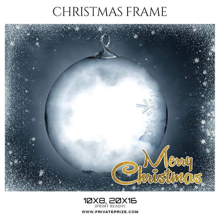 Merry Christmas - Christmas Frame - PrivatePrize - Photography Templates