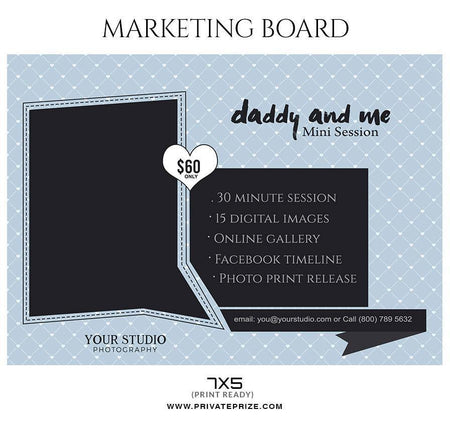 Daddy & Me - Father's Day Marketing Board Flyer Templates