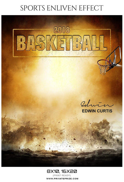 Edwin Curtis - Basketball Sports Enliven Effects Photography Template - Photography Photoshop Template