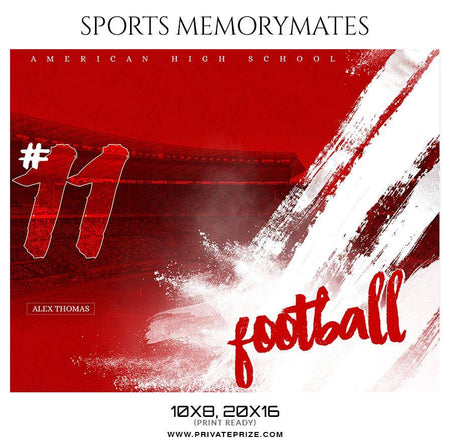 Alex Thomas - Football Memory Mate Photoshop Template - Photography Photoshop Template