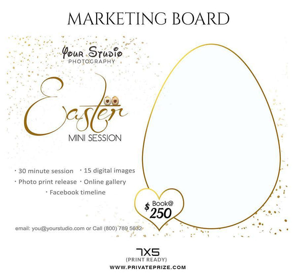 Easter - Mini Session Flyer Template for Photographers - Photography Photoshop Template