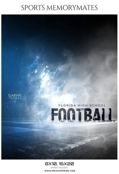 Garvin Thomas - Football Memory Mate Photoshop Template