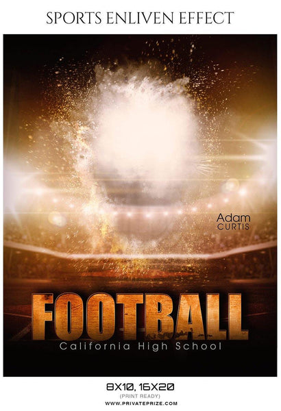 Adam Curtis - Football Sports Enliven Effects Photography Template - Photography Photoshop Template