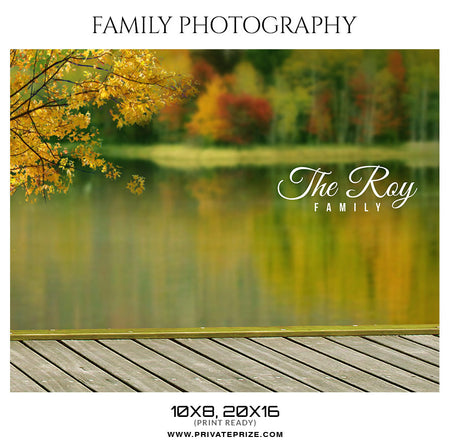 The Roy Family  - Family Photography - Photography Photoshop Template
