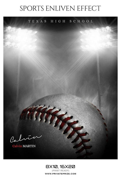 Calvin Martin - Baseball Sports Enliven Effect Photography Template