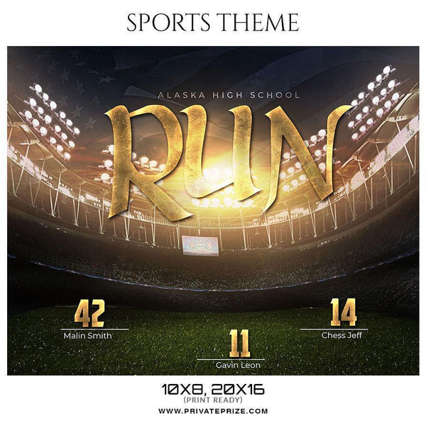 Run - Football Themed Sports Photography Template