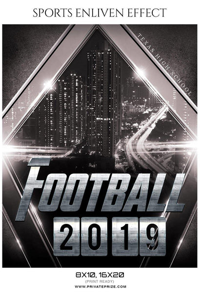 Football 2019 - Football Sports Enliven Effect Photography Template - Photography Photoshop Template