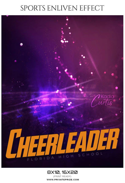 Kadia Curtis - Cheerleader Sports Photography Template - Photography Photoshop Template