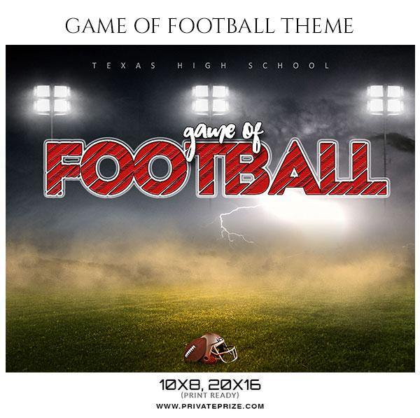 Game of football - Football Themed Sports Photography Template
