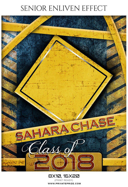 Sahara Chase - Senior Enliven Effect Photography Template - Photography Photoshop Template