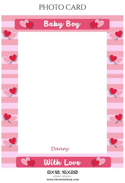 Danny - Photo card - Photography Photoshop Template