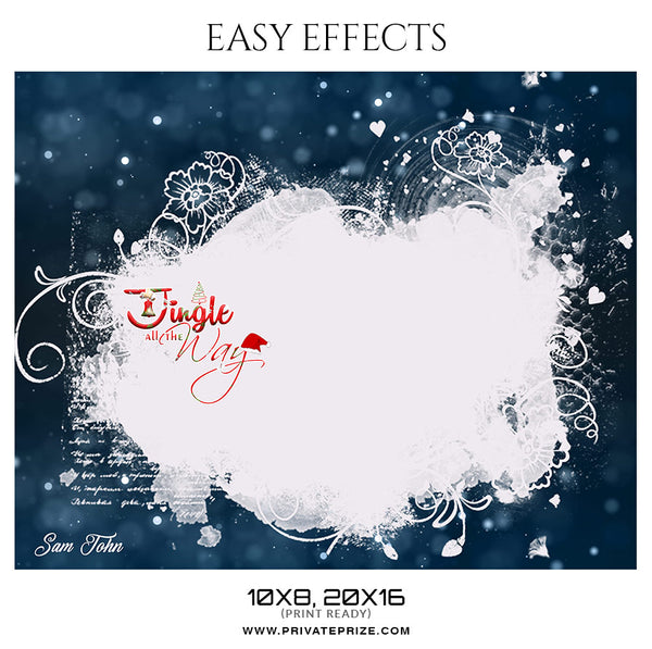 Sam John - Christmas Easy Effects - PrivatePrize Photography Photoshop Templates
