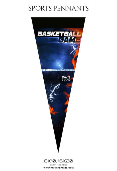 Basketball Pennants Photography Templates
